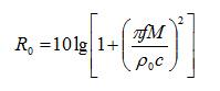 隔声量理论计算公式